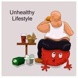 Unhealthy Lifestyle man Royalty Free Stock Image