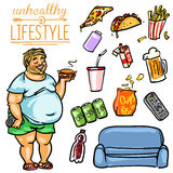 Unhealthy Lifestyle - Man Royalty Free Stock Image
