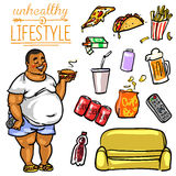 Unhealthy Lifestyle - Man Stock Images