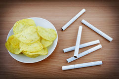 Unhealthy lifestyle Royalty Free Stock Image