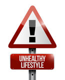 unhealthy lifestyle warning sign Royalty Free Stock Photography