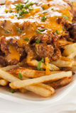 Unhealthy Messy Chili Cheese Fries Stock Images