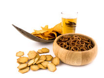 Unhealthy snack composition Stock Images