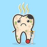 Unhealthy tooth concept Royalty Free Stock Images