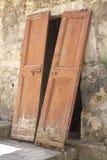 Unhinged double door Stock Image