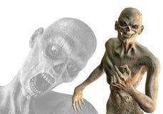 Unholy alliantie van zombieën stock illustratie