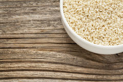 Unhulled sesame seeds Royalty Free Stock Photography