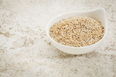 Unhulled sesame seeds Royalty Free Stock Image