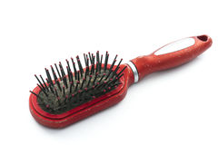 Unhygienic hairbrush Royalty Free Stock Photos