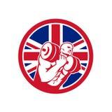 União britânica Jack Flag Icon do circuito do Gym Fotografia de Stock Royalty Free