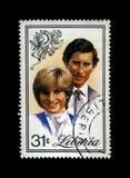 União da senhora Diana Spencer e do príncipe Charles, cerca de 1982, Fotografia de Stock