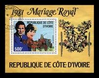 União da senhora Diana Spencer e do príncipe Charles, cerca de 1981, Imagens de Stock Royalty Free