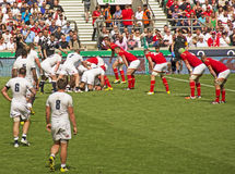 União do rugby de Inglaterra v Gales em Twickenham imagens de stock