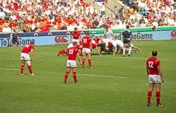 União do rugby de Inglaterra v Gales em Twickenham Foto de Stock Royalty Free