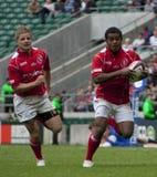 União do rugby: Exército contra a marinha Fotografia de Stock Royalty Free