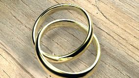União dourada do casamento do amor dos anéis video estoque