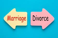 União e divórcio foto de stock