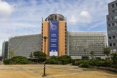União Europeia Bruxelas Bélgica de Parlamento Europeu de Comissão Europeia Imagens de Stock