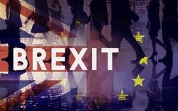 A União Europeia da licença de Brexit Grâ Bretanha parou o conceito do referendo fotografia de stock royalty free