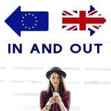 A União Europeia da licença de Brexit Grâ Bretanha parou o conceito do referendo imagens de stock royalty free