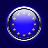 União Europeia do ícone. A UE embandeira o botão Fotografia de Stock Royalty Free