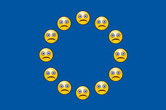 União Europeia incomodada Imagem de Stock Royalty Free