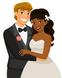 União inter-racial ilustração royalty free