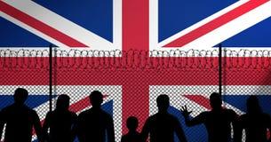 União Jack Behind Secure Fence ilustração royalty free