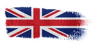 União Jack da bandeira do Brushstroke ilustração stock
