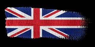 União Jack da bandeira do Brushstroke ilustração royalty free