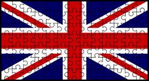 União Jack Flag Jigsaw ilustração stock