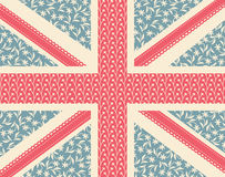 União Jack floral Imagem de Stock Royalty Free