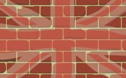 União Jack Sprayed em uma parede Imagens de Stock Royalty Free