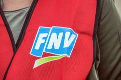 União Logo At Amsterdam The Netherlands 2018 de FNV imagem de stock royalty free