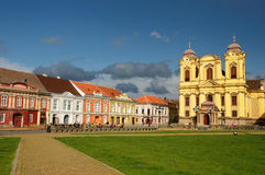 União Timisoara quadrado, Romania Foto de Stock Royalty Free