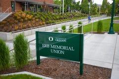 Unión conmemorativa de Erb en la universidad de Oregon Fotos de archivo