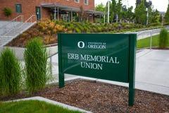 Unión conmemorativa de Erb en la universidad de Oregon Imagen de archivo