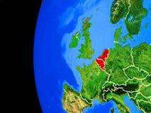 Unión de Benelux del espacio ilustración del vector