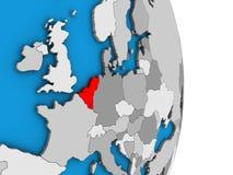 Unión de Benelux en el globo 3D libre illustration