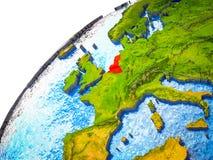 Unión de Benelux en la tierra 3D ilustración del vector
