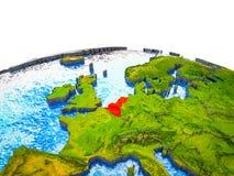 Unión de Benelux en la tierra 3D stock de ilustración