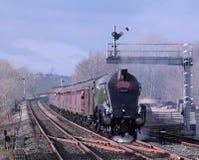 Cueza el tren al vapor en Appleby en el Settle a la línea de Carlisle fotografía de archivo libre de regalías