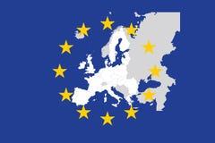 Unión europea. ilustración del vector