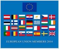 Unión europea 2014 Imagen de archivo libre de regalías