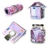 Unión europea de la moneda Fotografía de archivo libre de regalías
