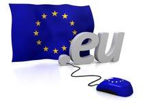 Unión europea en línea stock de ilustración