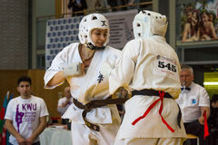 Unión europea KWU del mundo de Kyokushin del campeonato para los niños y la juventud 2017 Imagen de archivo