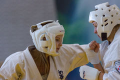 Unión europea KWU del mundo de Kyokushin del campeonato para los niños y la juventud 2017 Fotos de archivo libres de regalías