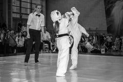 Unión europea KWU del mundo de Kyokushin del campeonato para los niños y la juventud 2017 Fotografía de archivo libre de regalías