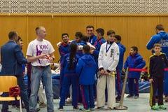 Unión europea KWU del mundo de Kyokushin del campeonato para los niños y la juventud 2017 Fotografía de archivo